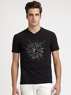 Versace Collection - Studded Logo Tee