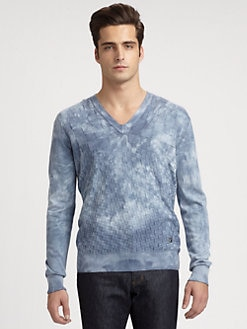 Versace Collection - Acid-Washed Sweater