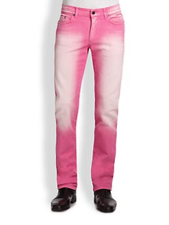 Versace Collection - Colored Straight-Leg Jeans