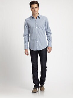 Versace Collection - Geometric Cotton Sportshirt