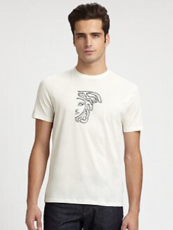 Versace Collection - Embellished Cotton Tee