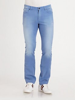 Versace Collection - Slim-Fit Faded Jeans