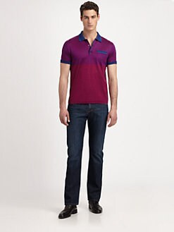 Versace Collection - Mini-Stripe Jersey Polo