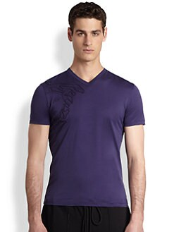 Versace Collection - Medusa V-Neck Tee