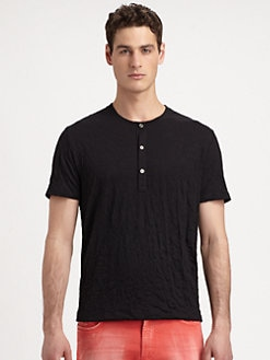 Versace Collection - Crinkled Jersey Henley
