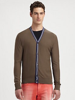 Versace Collection - Contrast Tipping Cardigan