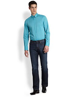 Versace Collection - Solid Stretch Cotton Sportshirt