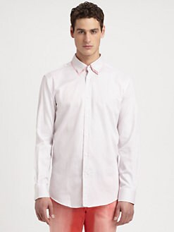 Versace Collection - Textured Stripe Sportshirt