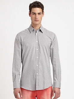 Versace Collection - Maze Cotton Sportshirt