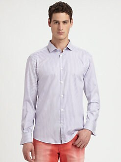 Versace Collection - Tonal Stripe Sportshirt