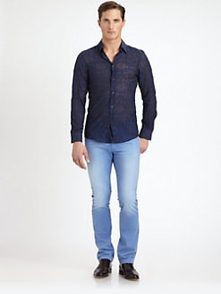 Versace Collection - Burnout-Patterned Shirt