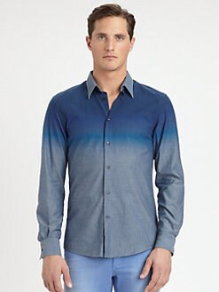 Versace Collection - Ombre Cotton Chambray Shirt