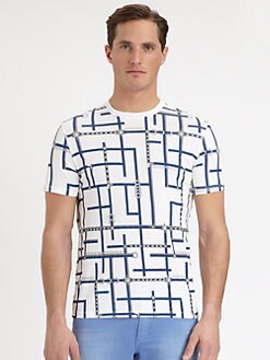 Versace Collection - Geometric-Print Tee