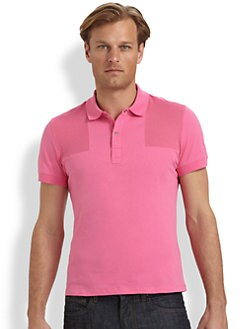 Versace Collection - Jersey Mesh Patch Polo