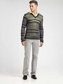 Versace Collection - Sheer V-Neck Sweater