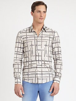 Versace Collection - Geometric-Print Shirt