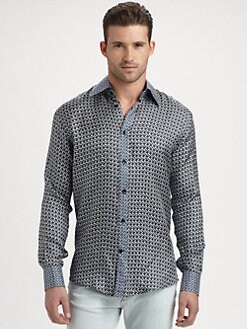 Versace Collection - Printed Silk Sportshirt
