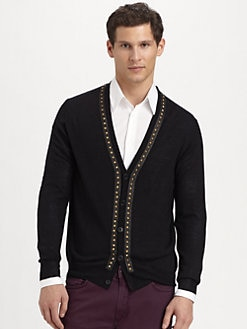 Versace Collection - Wool Stud Cardigan
