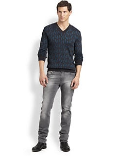 Versace Collection - Jacquard V-Neck Sweater