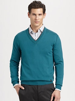 Versace Collection - Wool V-Neck Sweater