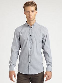 Versace Collection - Striped Woven Sportshirt