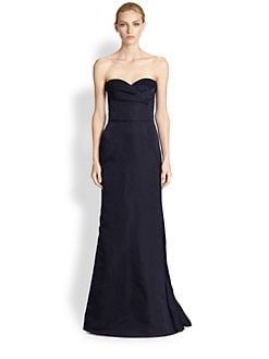 Alexander McQueen - Washed Satin Bustier Gown