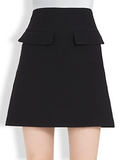 Alexander McQueen - Flap-Detail Mini Skirt