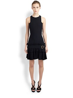 Alexander McQueen - Pleated Drop-Waist Dress