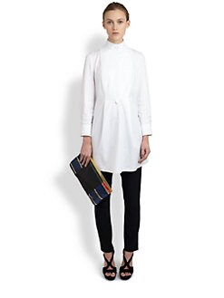 Alexander McQueen - Cotton Poplin Pleated-Back Tunic