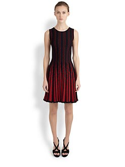 Alexander McQueen - Triangle-Print Pleated Dress