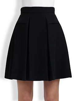 Alexander McQueen - Pleated Crepe Skirt