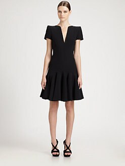 Alexander McQueen - Leaf Crepe Dress