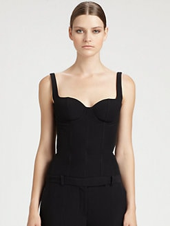 Alexander McQueen - Leaf Crepe Corset Top