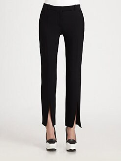 Alexander McQueen - Leaf Crepe Trousers
