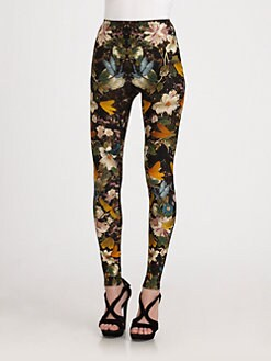 Alexander McQueen - Floral Dragonfly Leggings