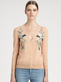 Alexander McQueen - Embroidered Wool Cardigan