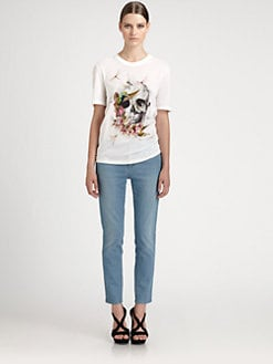 Alexander McQueen - Embroidered Dragonfly Tee