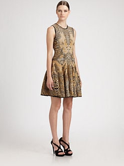 Alexander McQueen - Dragonfly Wing Jacquard Dress