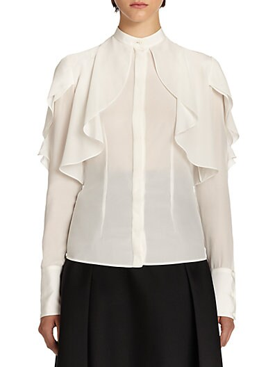 Flutter Silk Blouse