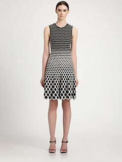 Alexander McQueen - Degradé Honeycomb Jacquard Dress