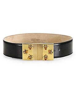 Alexander McQueen - Jeweled Bee Bridle Belt