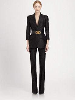 Alexander McQueen - Silk Bee Print Jacquard Jacket