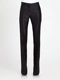 Alexander McQueen - Silk Bee Print Jacquard Trousers