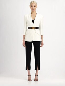 Alexander McQueen - Leaf Crepe Jacket