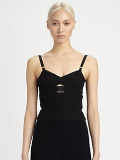 Alexander McQueen - Leaf Crepe Bustier