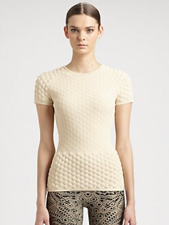 Alexander McQueen - Knit Honeycomb Top