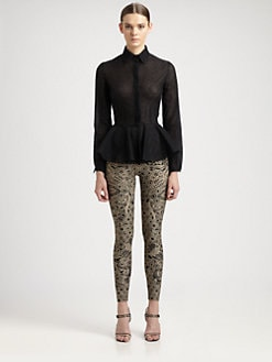 Alexander McQueen - Lace Peplum Blouse