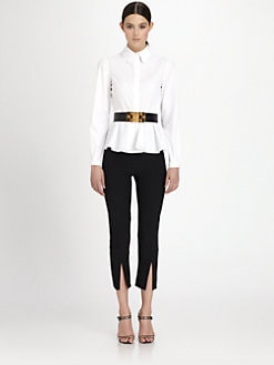 Alexander McQueen - Poplin Peplum Blouse