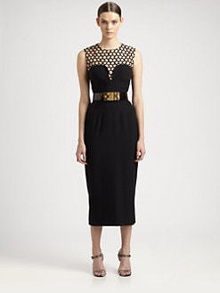 Alexander McQueen - Illusion Leaf Crepe Dress