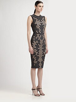 Alexander McQueen - Lace Print Jersey Dress